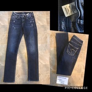 Silver Avery Straight Jeans